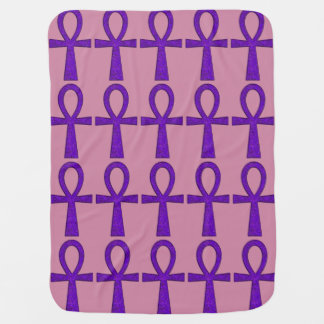 Purple Ankh Buggy Blanket