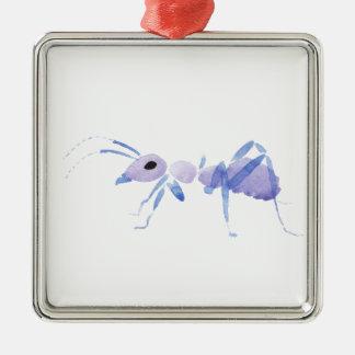 Purple Ant Christmas Ornament