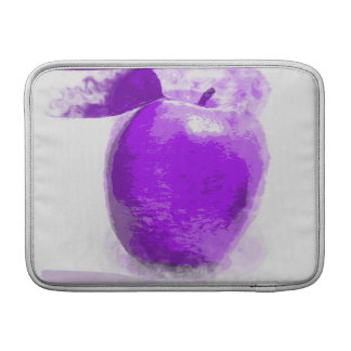 Purple Apple painting - Macbook Air Sleeves