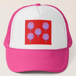 Purple Apple Tree Trucker Hat