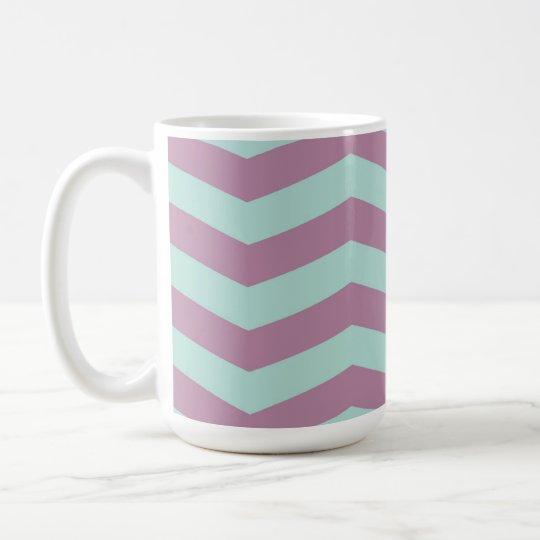 Purple/Aqua Chevron Mug