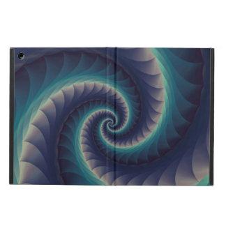 Purple & Aqua Spiral Fractal iPad Air Cover For iPad Air