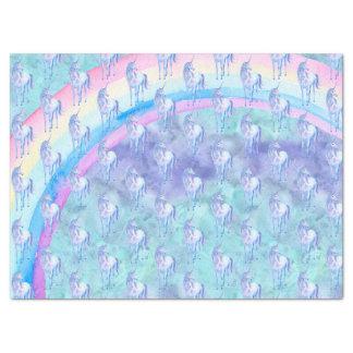 Purple Aqua Unicorn Dream Tissue Paper