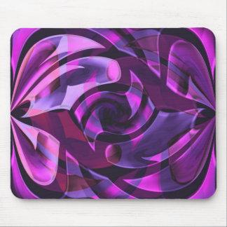 Purple arabesques mousemats