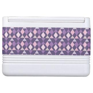 Purple Arabic Geometric Pattern Igloo Cooler