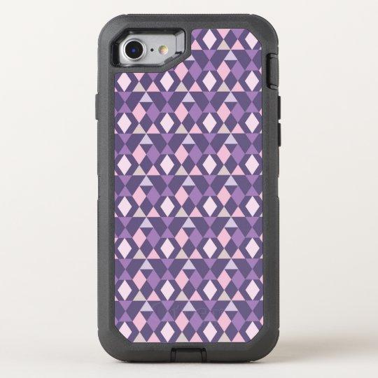 Purple Arabic Geometric Pattern OtterBox Defender iPhone 8/7 Case
