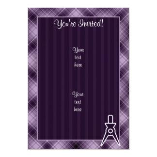 Purple Architect 13 Cm X 18 Cm Invitation Card