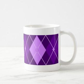 Purple Argyle Coffee Mug