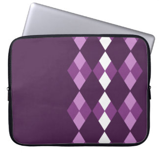 Purple argyle computer sleeve