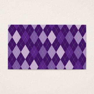 Purple argyle pattern business card