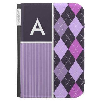Purple Argyle Pattern Kindle 3G Covers