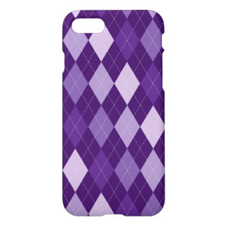 Purple argyle pattern iPhone 8/7 case