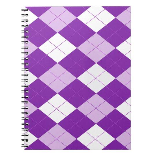 Purple Argyle Pattern Notebooks