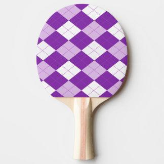 Purple Argyle Pattern Ping Pong Paddle