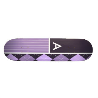 Purple Argyle Pattern Skate Boards
