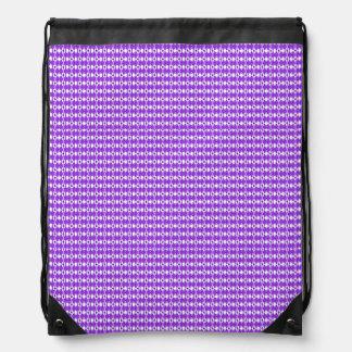Purple Argyle Print Drawstring Backback Drawstring Bag