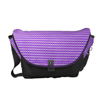 Purple Argyle Print Messenger Bag