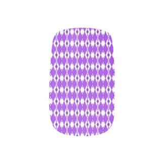 Purple Argyle Print Nail Art