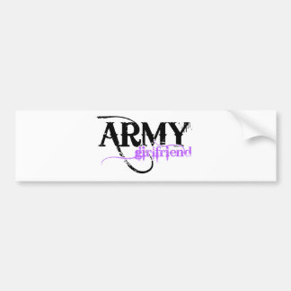 Purple Army Girlfriend Bumper Sticker