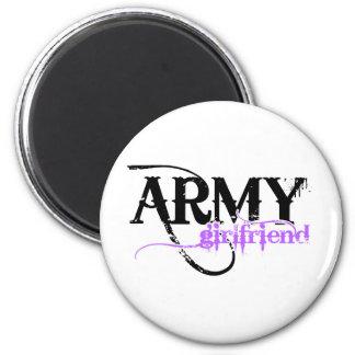 Purple Army Girlfriend 6 Cm Round Magnet