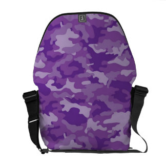 Purple Army Military Camo Camouflage Pattern Messenger Bag