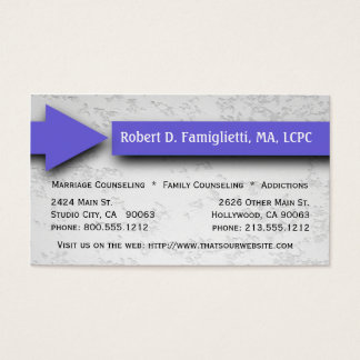 Purple Arrow Counseling Service Business Card