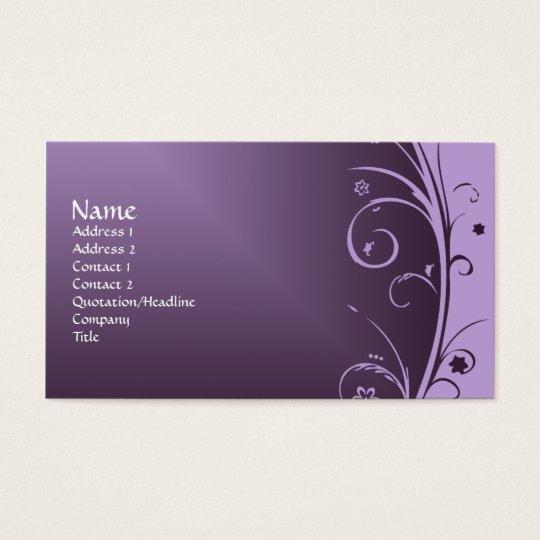 Purple Art Deco Vintage Business Card