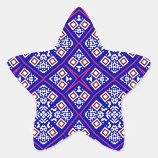 Purple artistic decorative design star sticker