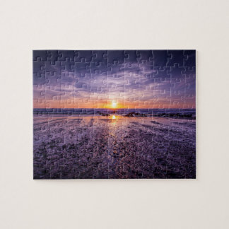 Purple Atlantic Sunset 8x10 Jigsaw Puzzle