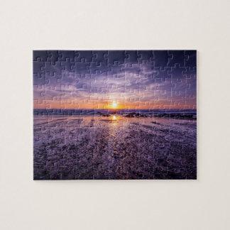Purple Atlantic Sunset 8x10 Jigsaw Puzzle