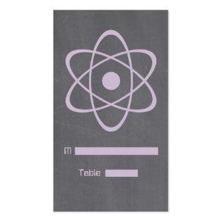 Purple Atomic Chalkboard Place Card Business Card Templates