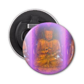 purple aura buddha bottle opener