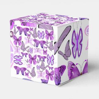 Purple Awareness Butterflies Favour Box