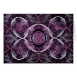 Purple Awareness Fractal Abstract Greeting Card