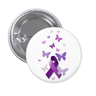 Purple Awareness Ribbon 3 Cm Round Badge