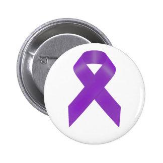 Purple Awareness Ribbon 6 Cm Round Badge