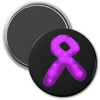 Purple Awareness Ribbon Candle Fridge Magnet
