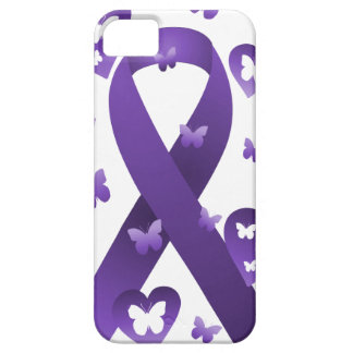 Purple Awareness Ribbon Case For The iPhone 5