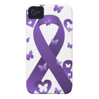 Purple Awareness Ribbon Case-Mate iPhone 4 Cases