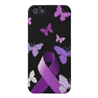 Purple Awareness Ribbon Cover For iPhone 5/5S