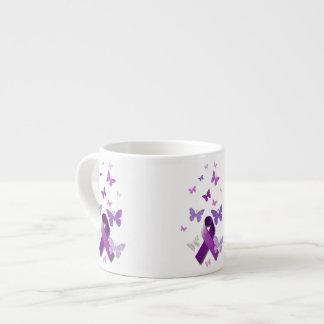 Purple Awareness Ribbon Espresso Mug
