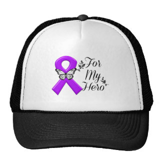 Purple Awareness Ribbon For My Hero Cap