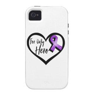 Purple Awareness Ribbon For My Hero Case-Mate iPhone 4 Covers