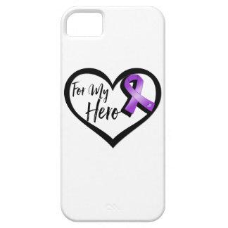 Purple Awareness Ribbon For My Hero iPhone 5 Cover