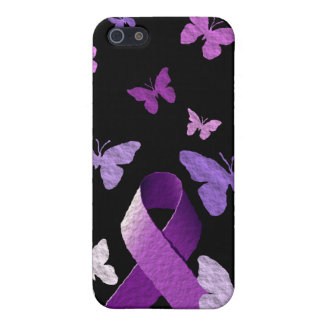 Purple Awareness Ribbon iPhone 5 Case