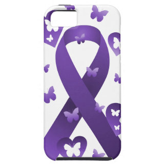 Purple Awareness Ribbon iPhone 5 Cases
