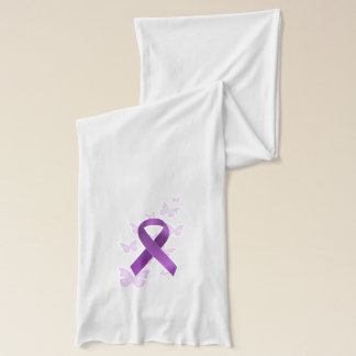 Purple Awareness Ribbon Scarf