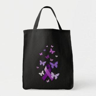 Purple Awareness Ribbon Bags