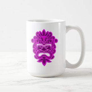 Purple Aztec Mask Basic White Mug