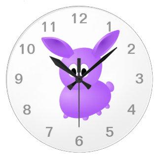 Purple Baby Rabbit. Wall Clocks